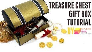 Treasure Chest gift box Tutorial by Srushti Patil