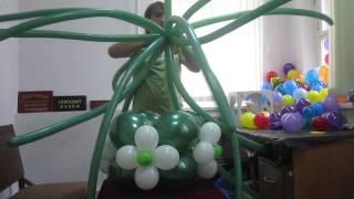 Сборка букета из шариков