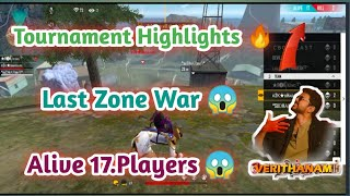 Tournament Highlights Part -3🔥🔥||Last Zone War tips and tricks||Tamil Free Fire Tips &Tricks||tdo||