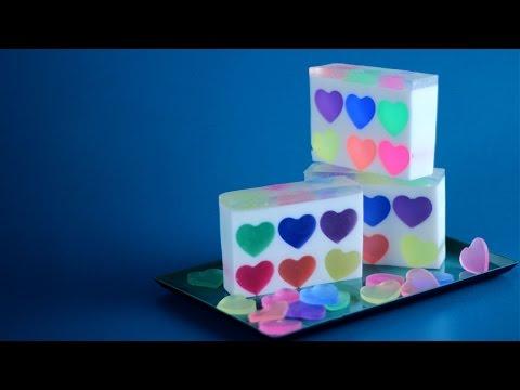 How to Make Rainbow Heart Soap
