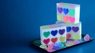 How to Make Rainbow Heart Soap