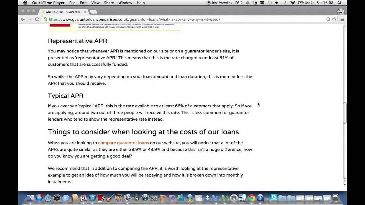 What is APR and How does it work for guarantor loans? - YouTube