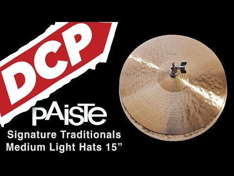 "Paiste Signature Medium Light Hi Hat Cymbals 15"" CUSTOM ORDER"
