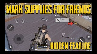 Gambar cover PUBG mobile hidden feature - mark supplies for friends (Hindi)