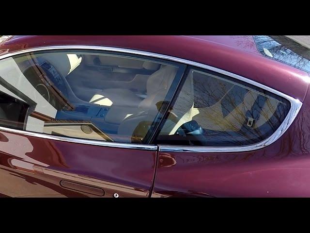 Recalibrating The Door Window Gl Auto Drop Positioning On An Aston Martin Db9 1936