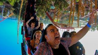 Riding Montezooma's Revenge! Multi-Angle Roller Coaster Onride POV! 4K Knott's Berry Farm