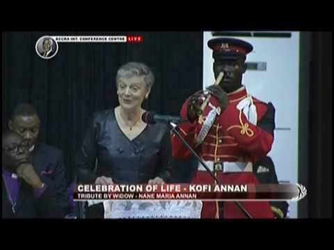 Tribute By Wife Of The Late Kofi Annan - JoyNews (13-9-18)