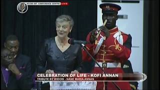 Tribute By Wife Of The Late Kofi Annan - JoyNews (13-9-18)