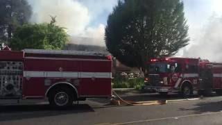 First alarm house fire - Tacoma Washington Structure fire