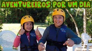 Maria Clara e JP são aventureiros por um dia! Kids pretended to play adventure