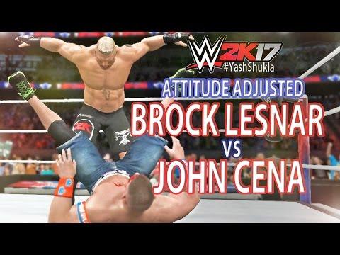 WWE 2K17 ATTITUDE ADJUSTED - Brock Lesnar Vs John Cena (Feat. Undertaker) | PS4 Gameplay
