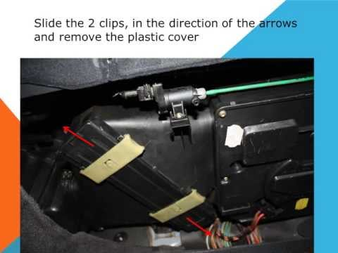 How to replace the air cabin filter dust pollen filter on a Mercedes Benz Clase E W210