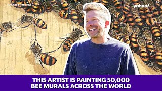 This artist hopes to paint 50,000 bee murals across the globe