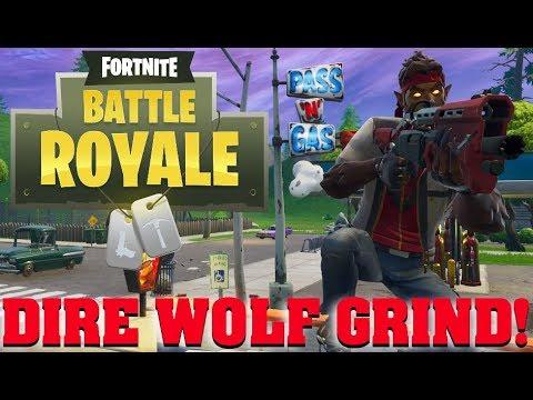 🔴DIRE WOLF GRIND! | Fortnite Battle Royale