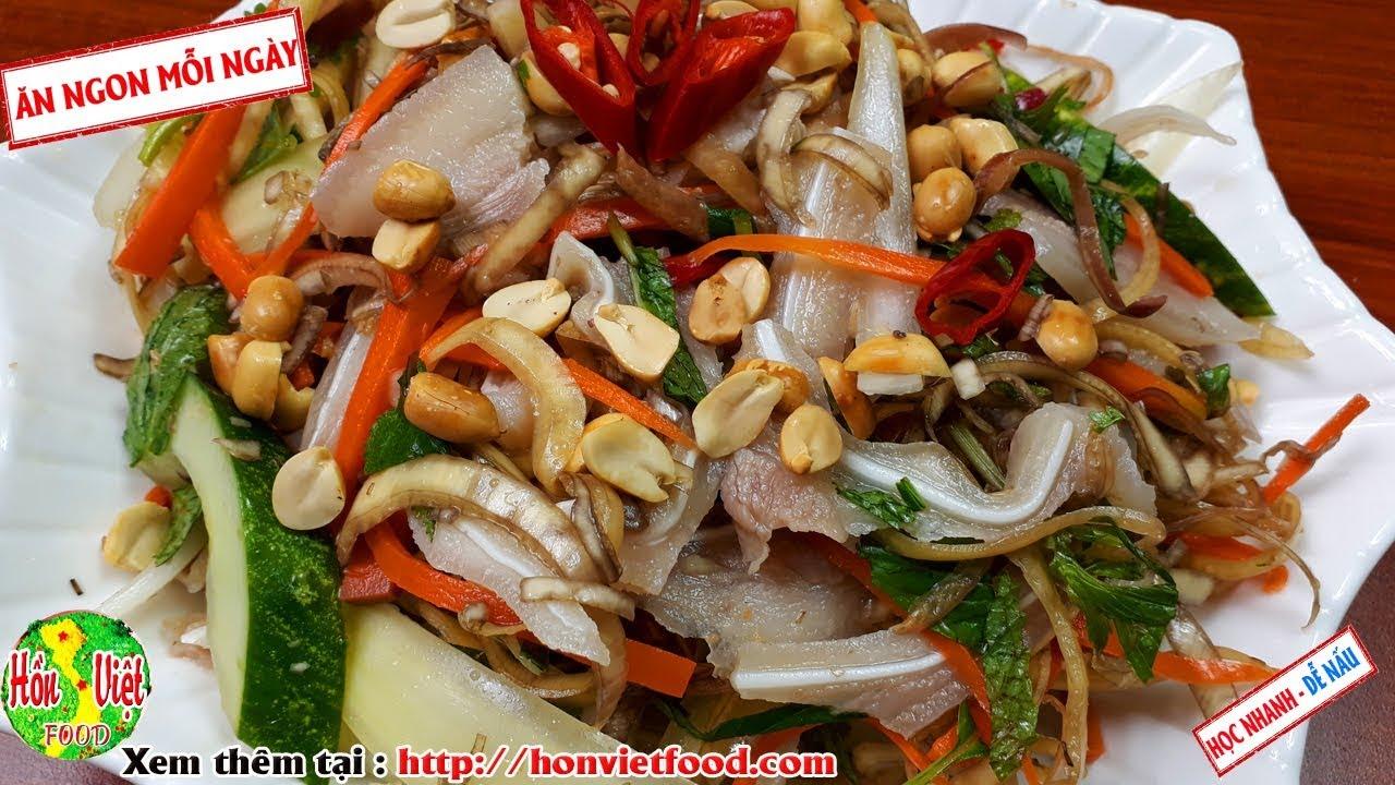 ✅ Giòn Rụm Món Tai Heo Nộm Hoa Chuối   Hồn Việt Food