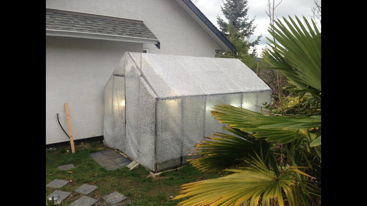 bubble wrapping and heating the tropical orchid greenhouse for