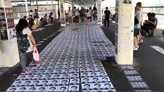 Publication Date: 2019-09-21 | Video Title: 朗屏邨行人天橋 「何君堯」任人踩