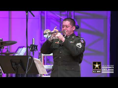The U.S. Army Blues Little Big Band Performs A Victory In Europe Day Concert