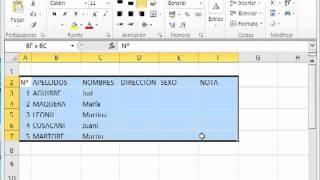 Excel 2010 Parte 3 - Cambiar ancho y alto de la celda, fuente y bordes de tabla