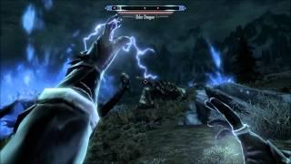 Skyrim: Perfect (Legit) Mage Destroys 5 Dragons