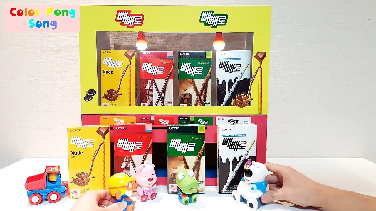 Diy Pepero Snack Vending Machine Learn Colors With Pororo