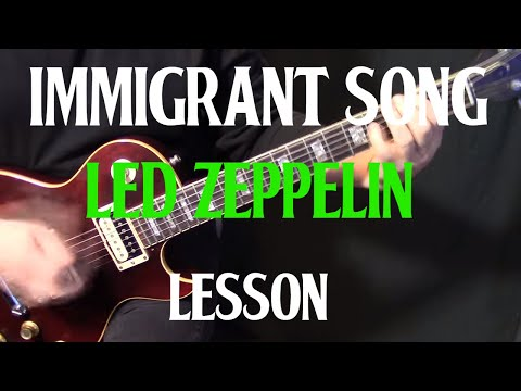 "how to play ""Immigrant Song"" on guitar by Led Zeppelin electric guitar lesson tutorial"