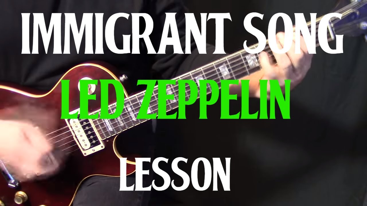 how to play immigrant song on guitar by led zeppelin electric guitar lesson tutorial youtube