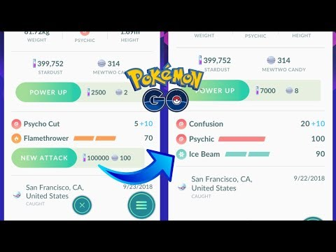 HOW TO UNLOCK A 2ND CHARGE MOVE IN POKEMON GO! 100K STARDUST