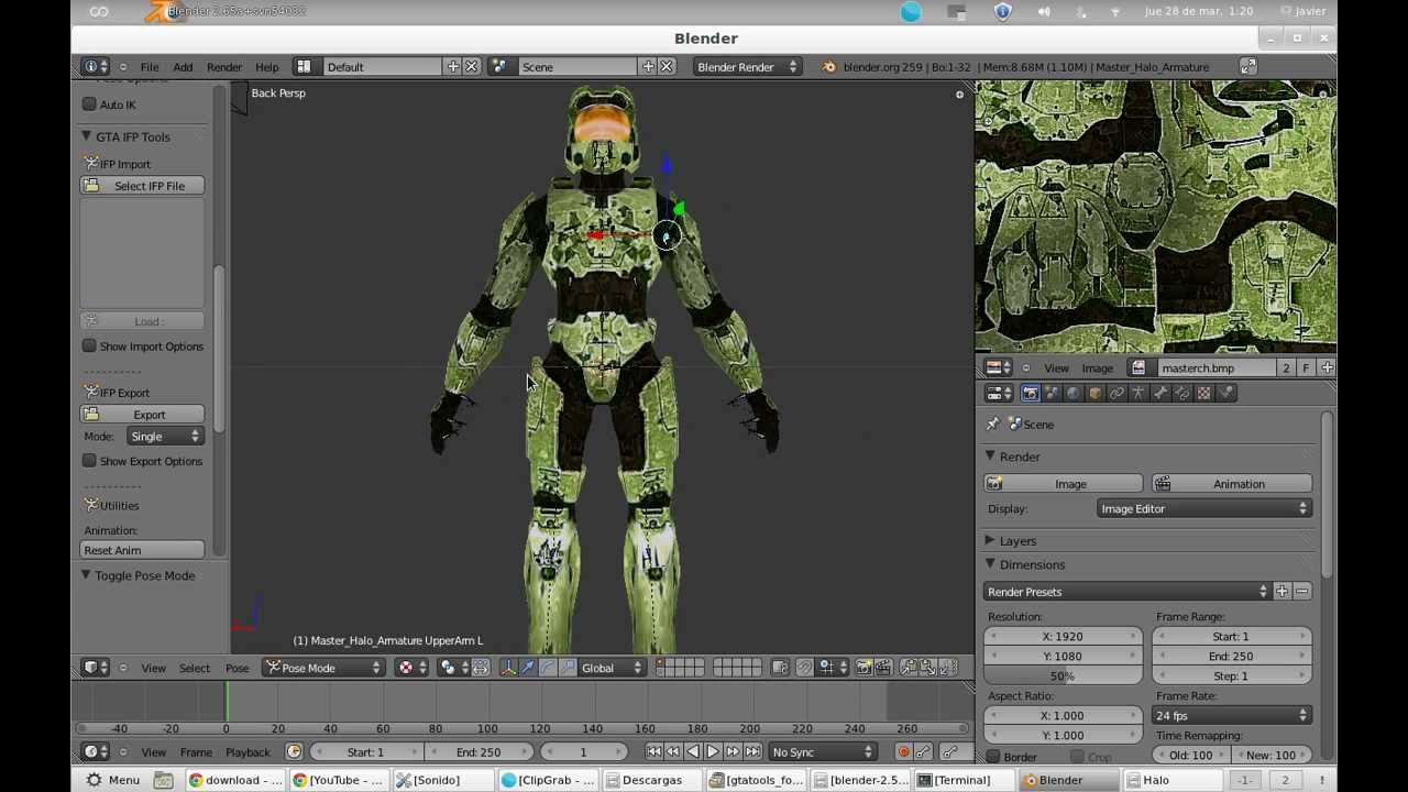Importar modelos  dff con gta tools [Blender Game]