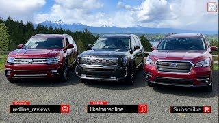 Kia Telluride Vs. Subaru Ascent Vs. Volkswagen Atlas - Which Big SUV Is The BEST??