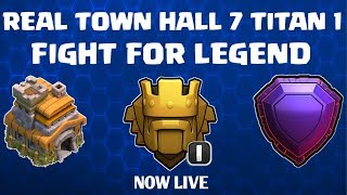 TOWN HALL 7 TITAN 1 PUSHING||DEFENCE -42 TROPHY 😭||CLASH OF CLANS