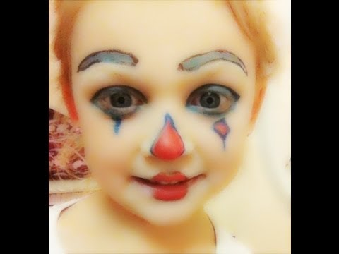 Kids Clown Halloween Makeup Look - YouTube
