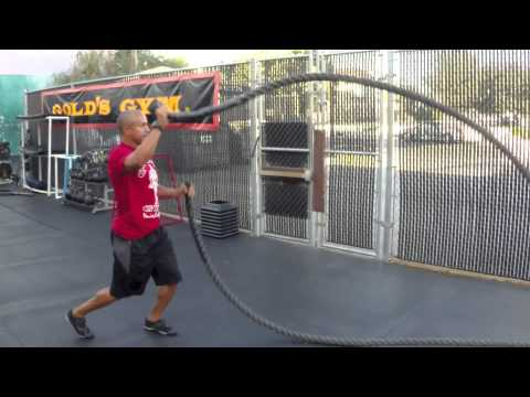 13 Battle Rope Exercises for Gold's Gym Fitness Institute ...
