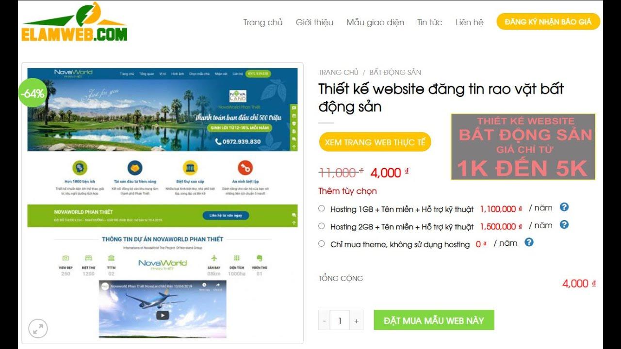 Làm web quảng cáo bds quận 1 [ Giá chỉ từ 1k đến 5k] Đăng ký ngay số lượng có hạn