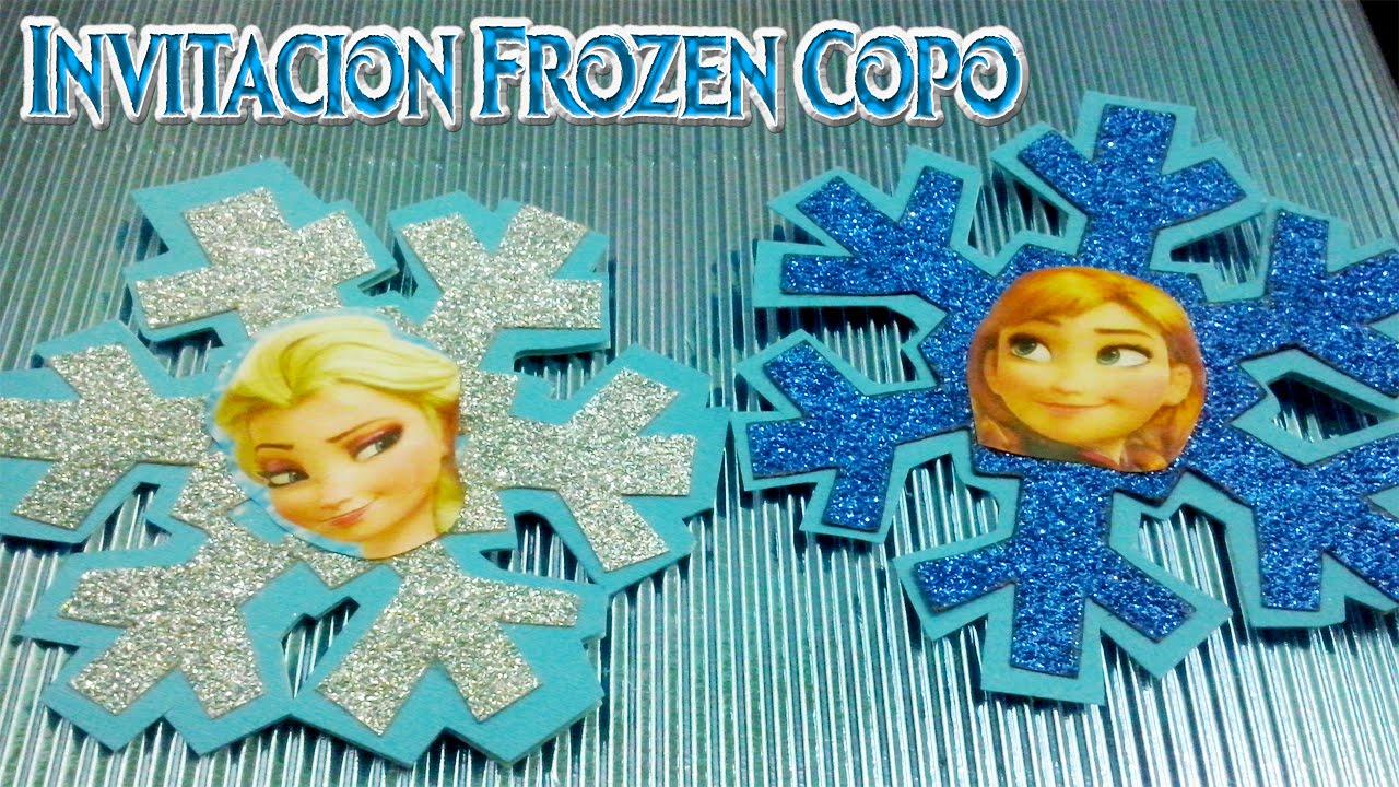 Invitaciones De Cumpleaños De Frozen En Goma Eva