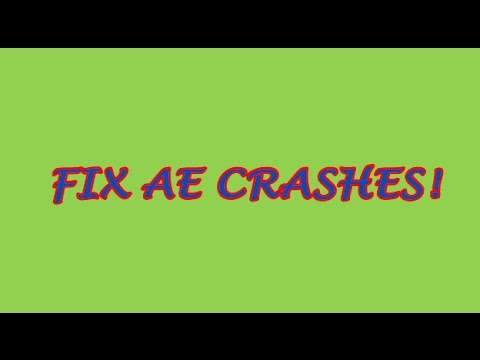 After Effects (ALL VERSIONS) Crash FIX! (ALL Adobe Products)