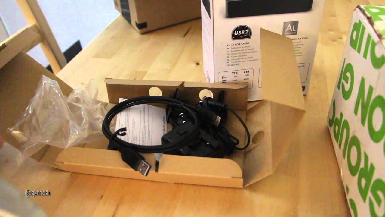 LaCie Porsche Design P'9230 5TB USB 3.0 Desktop Hard Drive Unboxing
