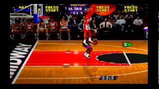 NBA Hangtime (N64) Game #1 of 29 - Hawks (Me) vs. Grizzlies (CPU)