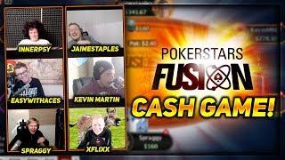 POKERSTARS TEAM ONLINE FUSION CASH GAME!! | PokerStaples Stream Highlights