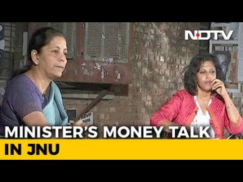 New Kids On The Block: Minister Nirmala Sitharaman's Money Talk In JNU