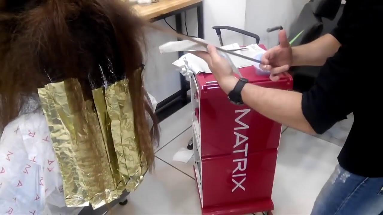 Doğal Saç Rengine Ombre Balyaj çalışması Youtube