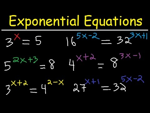 Solving Exponential Equations With Different Bases Using Logarithms