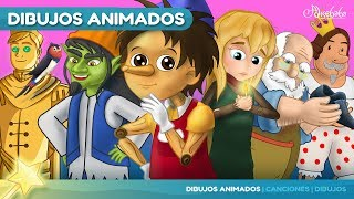 Pinocho y 5 animado en Español   Cuentos infantiles para dormir