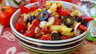Салат 'Мексиканец'. Рецепт салата