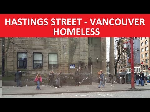 HOMELESS :-(  HASTINGS STREET VANCOUVER CANADA