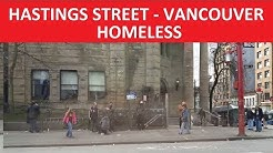 ✅ HOMELESS :-(  HASTINGS STREET VANCOUVER CANADA