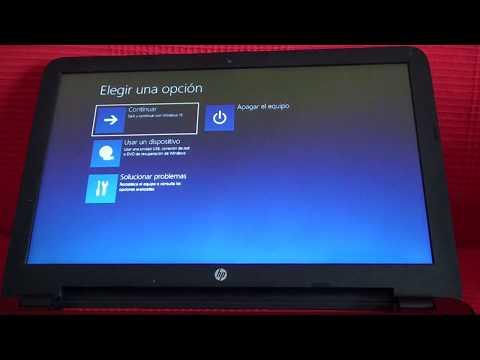 Restaurar Portátil HP modo Recuperación