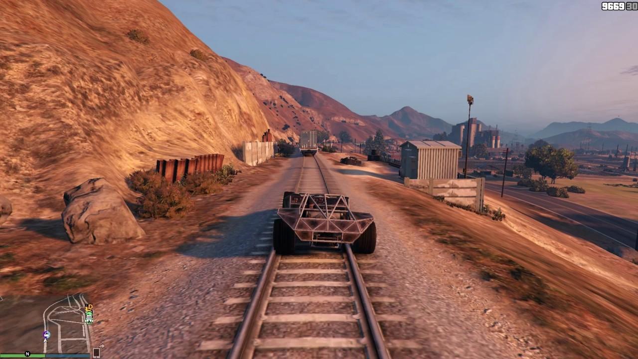 GTA 5 #274 Ramp Buggy vs Tåg - YouTube
