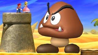 New Super Mario Bros U Deluxe Co-Op Walkthrough - World 2 (2 Player)