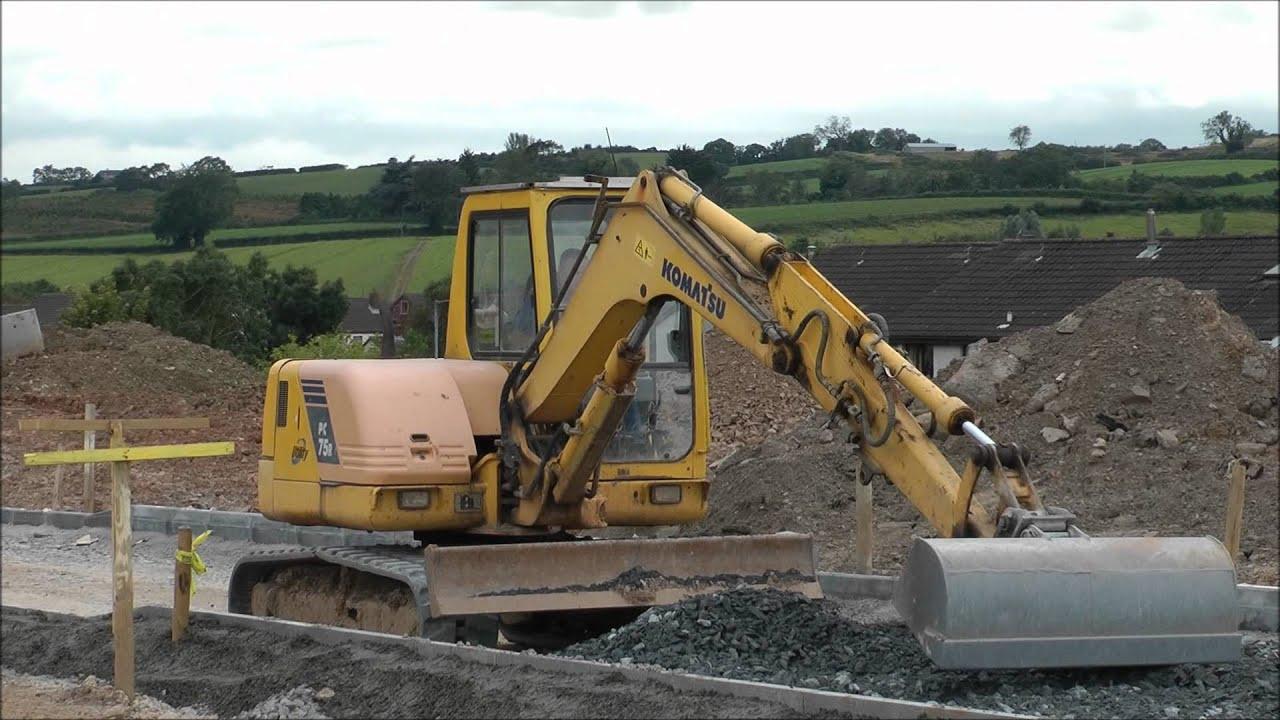 Komatsu Pc75 Excavator With Blade